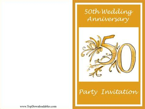 50th Anniversary Card Template by 8 Best Images Of Free Printables For 50th Birthday 50th