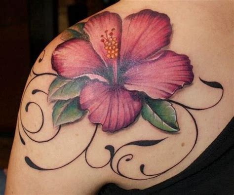rose vein tattoo hibiscus i think it would been better if the