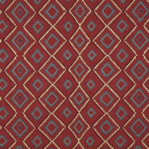 Lodge Upholstery Fabric by J748 Blue Beige Green Southwest Lodge