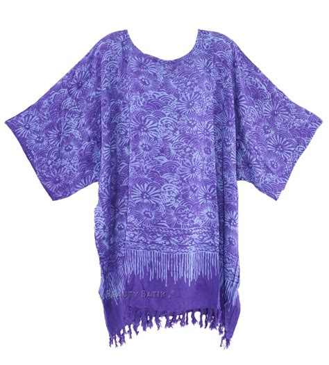 Kaftan Batik 24 purple batik blouse tunic kaftan caftan top 20 22 24