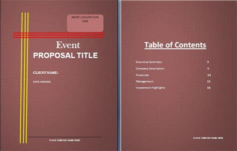 11 event proposal sle templates word excel pdf formats