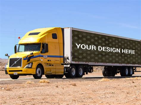 truck free truck container advertising mockup mockupblast