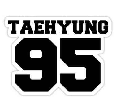 quot bts bangtan boys taehyung football design black quot stickers by impalecki redbubble
