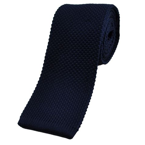 blue knit tie plain navy blue knitted tie from ties planet uk