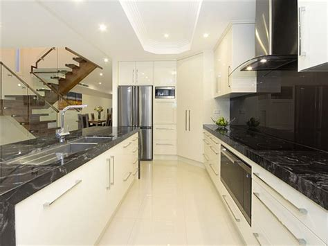 modern galley kitchen ideas modern galley kitchen design using marble kitchen photo