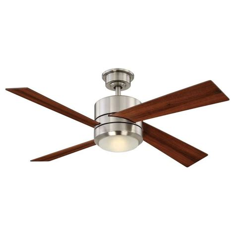 home collection ceiling fans home decorators collection healy 48 in led brushed nickel
