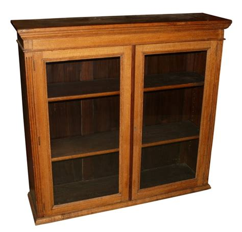 oak bookcase with glass doors antiques bazaar bookcases