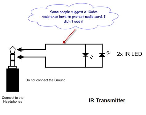 ir diode android infrared ir audio receiver and transmitter electrical engineering stack exchange