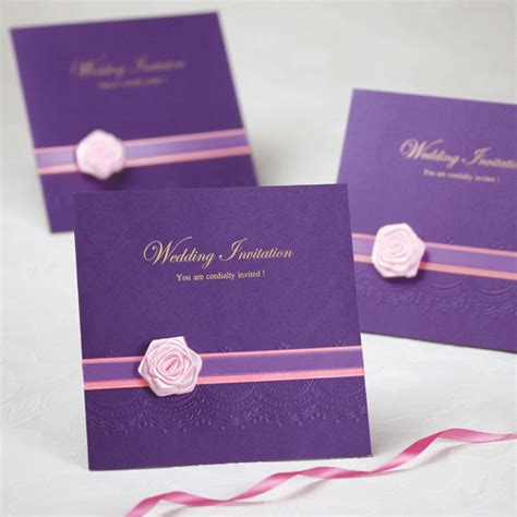 wedding invitations cards 2016 2016 purple wedding invitation card delicate carved pattern hollow out