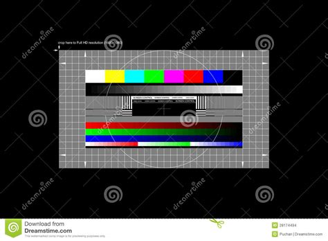 test pattern full hd full hd test pattern stock images image 28174494