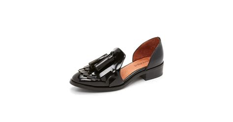 jeffrey cbell shoes flats lyst jeffrey cbell lachlan d orsay flats in black