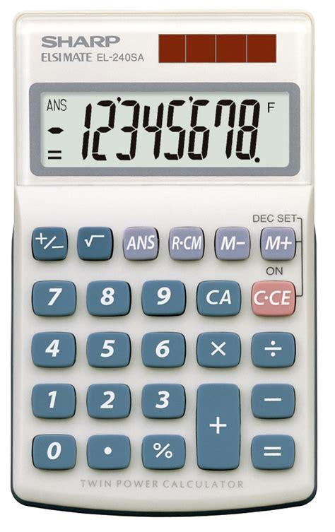 calculator function sharp el 240sab basic solar powered four function