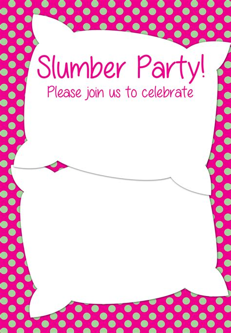 Sleepover Invitation Template Word Free Printable Slumber Party Invitation Party Ideas In 2019 Slumber Party Invitations