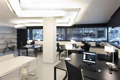 minimalist style modern office interior arrangement