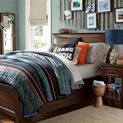 bedroom sets for teenage guys hton storage bed pbteen