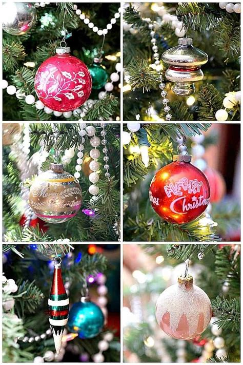 how to clean christmas ornaments tree decorated with vintage glass ornaments