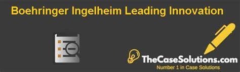 Boehringer Ingelheim Summer Mba Internship by Boehringer Ingelheim Leading Innovation Solution And