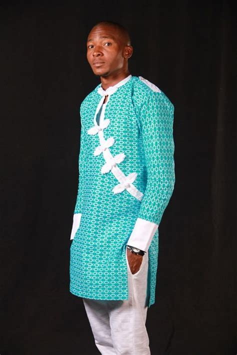 male ankara wears nigerian style lace with contrast nigerian style