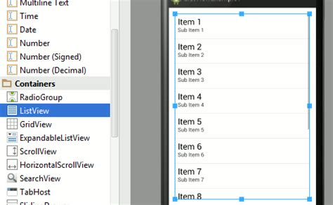 layout listview android studio android adventures listview and adapters