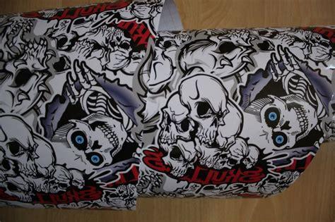 Stickerbomb Folie Motorrad by 50 X152cm Skull Autofolie Auto Motorrad Folie Stickerbomb