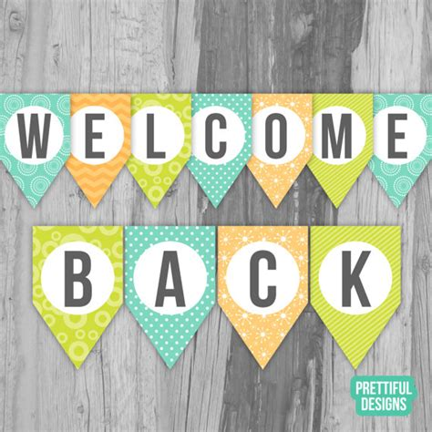 design banner welcome welcome back first day of school banner printable instant