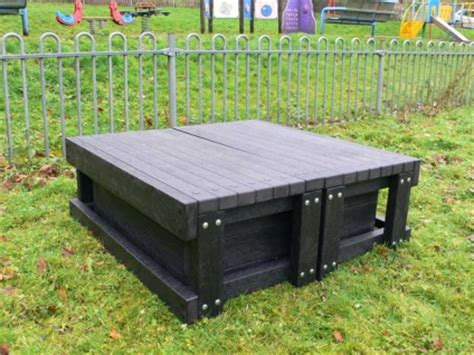 sand pit   seats recycled plastic education