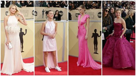 Sag Awards Trend Alert by Sag Awards Platoon Of Pink A Colorful S March