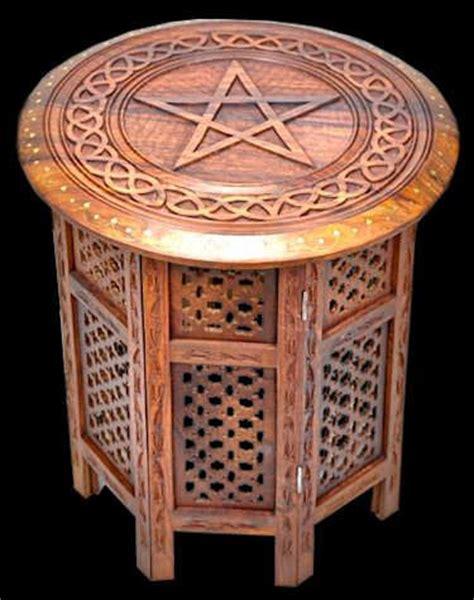 celtic pentacle altar table wood 18x18 pagan pinterest