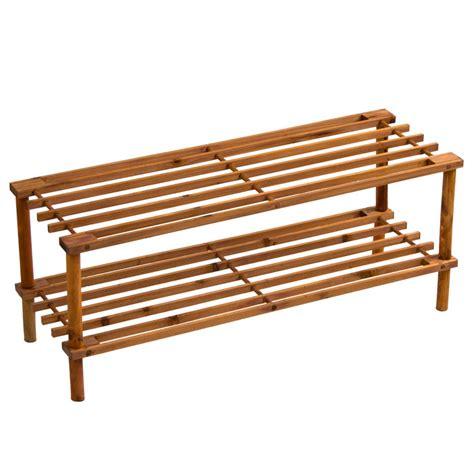 4 tier shoe rack wood 2 3 4 tier shoe rack slated dark oak natural walnut wood footwear storage unit ebay