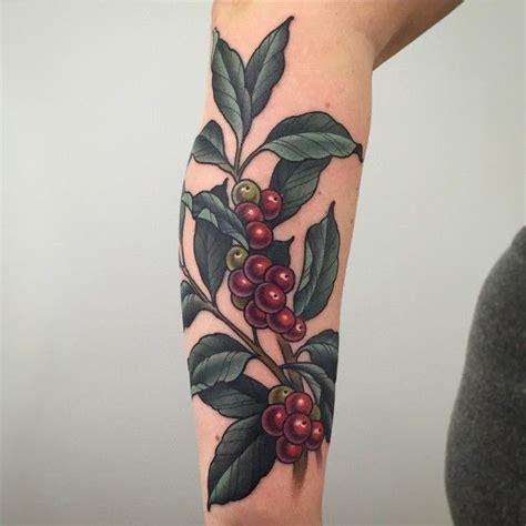 coffee bean tattoo best 25 plant ideas on floral arm