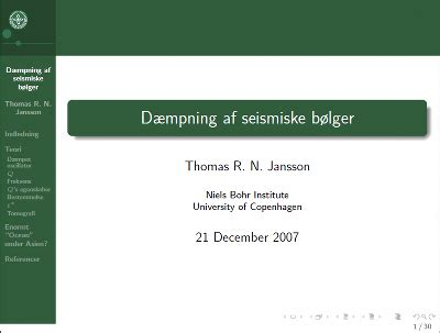presentations with latex beamer class ku style tjansson dk
