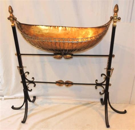 wrought iron swing with stand wonderful french wrought iron copper gilt tole bird bath