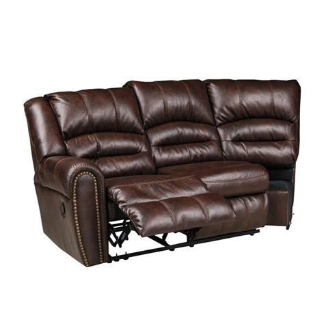 faux leather reclining sectional ashley manzanola 2 piece faux leather reclining sectional