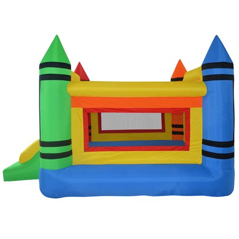 blow up bounce house mini crayon bounce house inflatable jump castle
