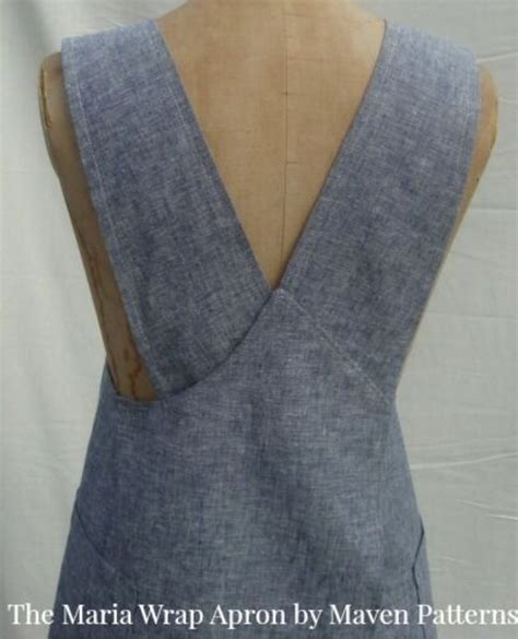 japanese apron pattern uk the maria wrap apron pdf sewing pattern www