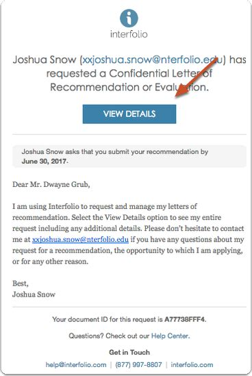 Interfolio Letters Of Recommendation
