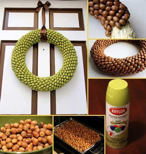 acorn craft projects make diy acorn crafts for decorating acorn wreath and