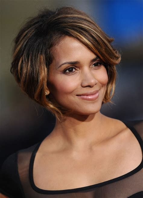 chin length dark hairstyles celebrity hairstyles haircut ideas halle berry chin
