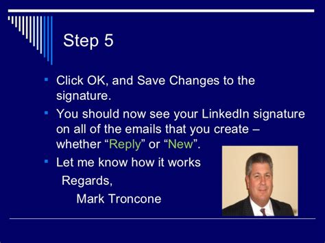 Pmp Mba Signature by How To Add Linked In To Your E Mail Signature