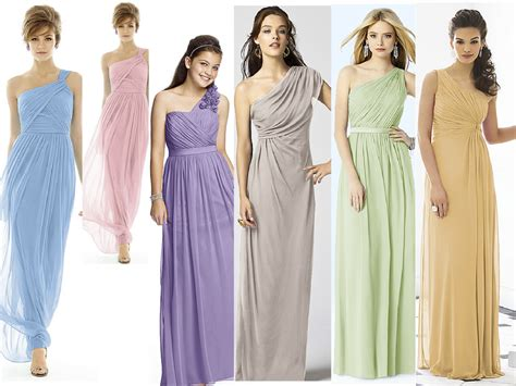 Goddess Style Wedding Dresses by Goddess Style Bridesmaid Dresses In Pastels