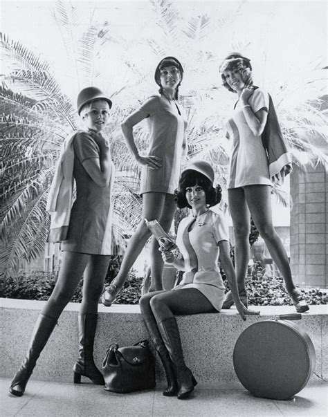 Flight Attendant Fashion by Shimshim Flight Attendants In 1970 S