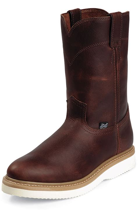 justin s original workboots 10 quot pull on wedge