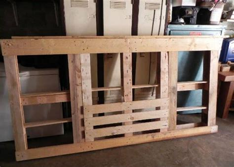 headboard out of pallets diy bed headboard out of wooden pallets pallet ideas