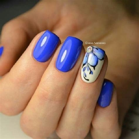 easy nail art blue and white 65 blue nail art ideas nenuno creative