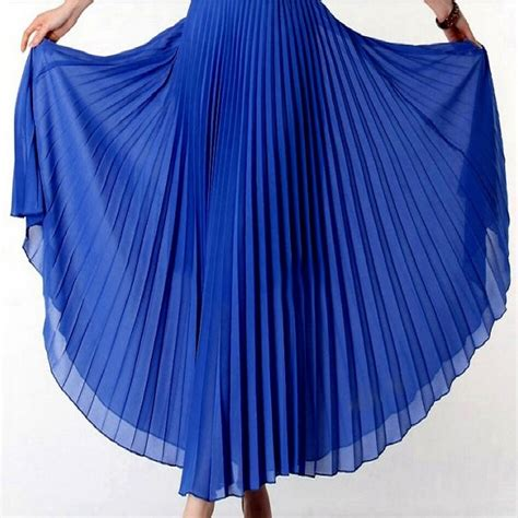 new 2017 summer bohemian pleated maxi skirts womens high waist chiffon skirt autumn tutu