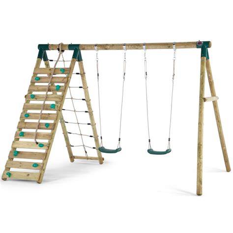 plum wooden swing set plum uakari wooden swing set all round fun