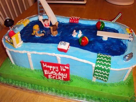 Pool Cake Decorations by Pool Cake Cake Decorating Community Cakes We Bake