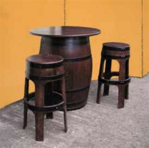 barrel garden tapas tables stools