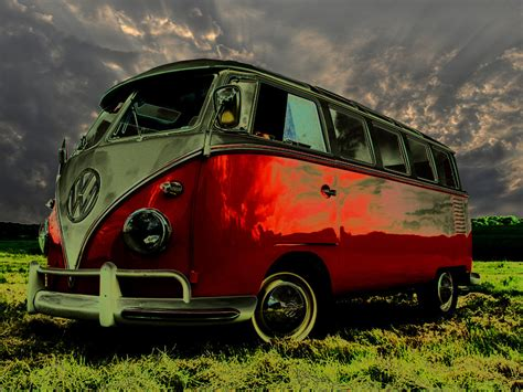 Photo Collection Vw Hippie Van Wallpaper