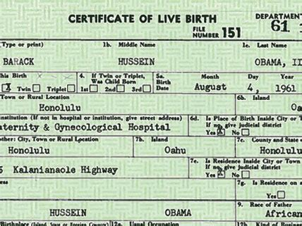 American Birth Records Obama Is Certified All American Hmh Current Events